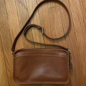 Classic vintage Coach handbag in British tan